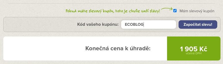 ecoblog econea sleva kod kupon 2 1