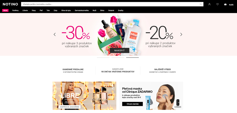 notino homepage