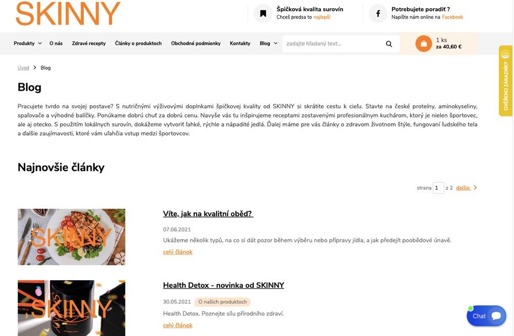 skinny blog